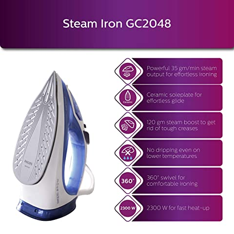 Philips GC2048 Easy Speed Plus Steam Iron