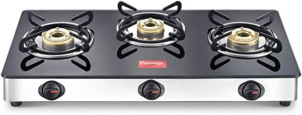 Prestige Magic 3 Burner Gas Stove Stainless Steel Body
